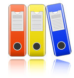 Folders for office documents Royalty Free Stock Image