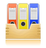 Folders for office documents Stock Image