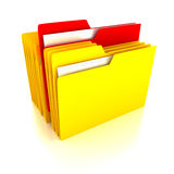 Folders over white background Stock Images