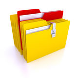 Folders Over White Background Royalty Free Stock Photos