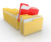 Folders with paper Royalty Free Stock Images