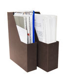 Folders with papers Royalty Free Stock Photo