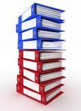 Folders for papers on a white Royalty Free Stock Photo