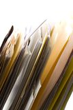Folders in a Rack Royalty Free Stock Images