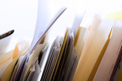 Folders in a Rack Royalty Free Stock Photos