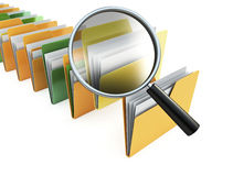 Folders search Royalty Free Stock Photography