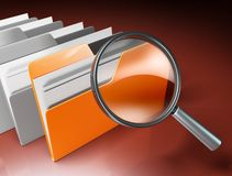 Folders search Royalty Free Stock Photo