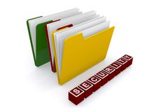 Folders and security Royalty Free Stock Photo