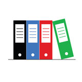 Folders set color art  Royalty Free Stock Photography