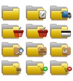 Folders Set - Commerce Applications Folders 16 Royalty Free Stock Photography