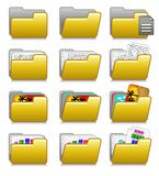 Folders Set - Computer Applications Folders 03. Set of Folders for archive ... Illustration 03 of web icons series: check my portfolio for the complete set. Eps Royalty Free Stock Photos