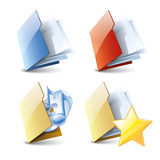 Folders set Royalty Free Stock Photography