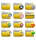 Folders Set - Security Applications Folders 06. Set of icons for web, media etc... concerning cyber security Eps file is available. Illustration 06 of web icons Stock Photography
