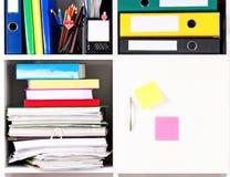 Folders on shelves Stock Image