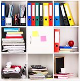 Folders on shelves Stock Photography