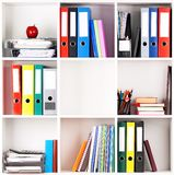 Folders on shelves Stock Photo