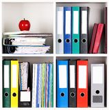 Folders on shelves Royalty Free Stock Photos