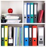 Folders on shelves Royalty Free Stock Photos