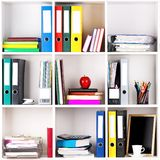 Folders on shelves Stock Images