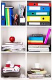 Folders on shelves Royalty Free Stock Images