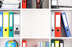 Folders on shelves Royalty Free Stock Photo