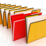 Folders Showing Organising Documents Filing Stock Image