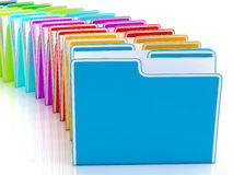 Folders Showing Organising And Reports Royalty Free Stock Photo