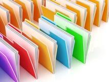 Folders Showing Organizing And Data. Folders Showing Organizing Documents Filing And Data Royalty Free Stock Photos