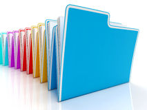 Folders Showing Organizing And Reports Royalty Free Stock Photography