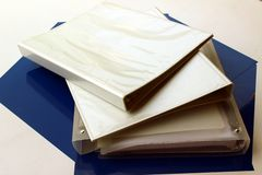 Folders. Some White folders with rings Royalty Free Stock Photos