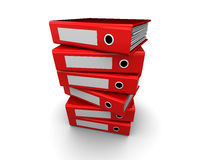 Folders stack Stock Photo