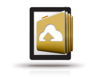 Folders and tablet Royalty Free Stock Photos