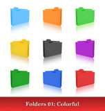 Folders template Stock Photo