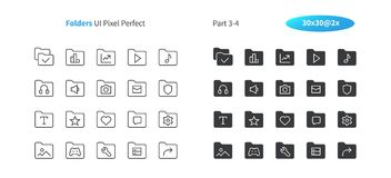 Folders UI Pixel Perfect Well-crafted Vector Thin Line And Solid Icons 30 2x Grid for Web Graphics and Apps. Simple Minimal Pictogram Part 3-4 Royalty Free Stock Photos