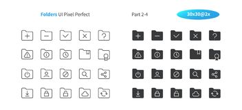 Folders UI Pixel Perfect Well-crafted Vector Thin Line And Solid Icons 30 2x Grid for Web Graphics and Apps. Simple Minimal Pictogram Part 2-4 Stock Image