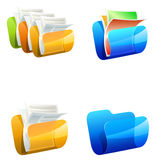Folders vector illustration Royalty Free Stock Image