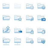 Folders web icons, blue series Royalty Free Stock Photos