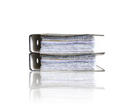 Folders on white Stock Image