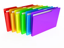 Folders on white background. 3d rendered image Stock Image
