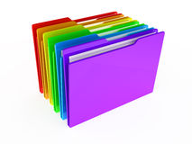 Folders on white background. 3d rendered image Royalty Free Stock Photography