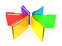 Folders on white background. 3d render Stock Photo