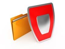Folders on white background. 3d render Stock Images