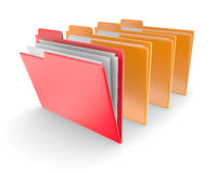 Folders on white background Stock Photography