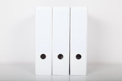 Folders in white color Royalty Free Stock Images