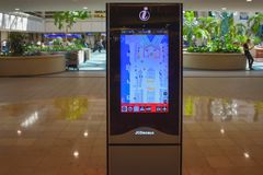 Foldertouch screen in Orlando International Airport royalty-vrije stock fotografie