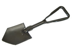 Folding army shovel Stock Photos