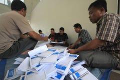 Folding Ballots For Election Representatives Royalty Free Stock Photos