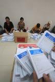 Folding Ballots For Election Representatives Stock Photo