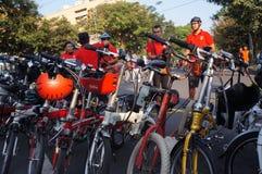 Folding bike Stock Photo