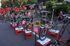 Folding bike Stock Photography